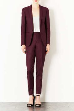 Modern Tailoring Tailored Suit Blazer and Turn Up Trousers