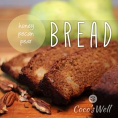 This honey pear bread tastes just like autumn!! Plus it's dairy free and refined sugar free. Full of nourishing ingredients!!