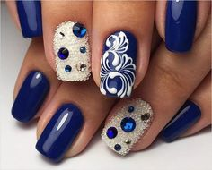 Mar 2019 - The New Year's manicure is one of the key components of the festive image. See more ideas about Manicure, Nails and New year's nails. Simple Nails Design, Simple Nail Art Designs, Best Nail Art Designs, Short Nail Designs, Beautiful Nail Designs, New Year's Nails, Hair And Nails, Gel Nails, Acrylic Nails