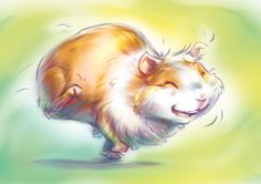 """Happy Bobule the Guinea Pig"" by Fany001 from deviantART.com"