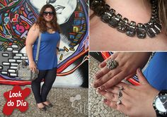Look do dia: Jeans + regata azul bic + max colar