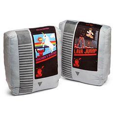 Retro Video Games Cartrdige Pillow Set from ThinkGeek ($34.99) #NES