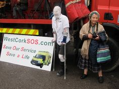 Opponents to cuts in ambulance services in West Cork are organising a protest march and stretcher push from Skibbereen to Cork City next week. Cork City, Life
