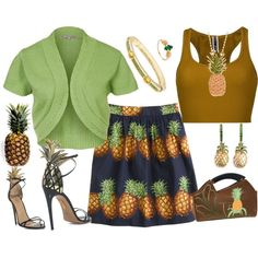 """""""Pineapples"""" by carolwatergirl on Polyvore"""