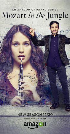 Mozart in the Jungle (2014– ) TV Series  |  29 min  |  Comedy Season 2 Premiere Wednesday, December 30  Ratings: 8.2/10 from 6,416 users    Reviews: 21 user | 4 critic Sex, drugs and classical music illustrate what happens behind the curtains at the symphony can be just as captivating as what occurs on stage.  Creators: Roman Coppola, Jason Schwartzman, Alex Timbers Stars: Gael García Bernal, Lola Kirke, Saffron Burrows