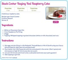 Stack Cooker Raging Red Raspberry Cake