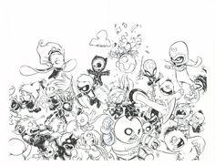 Baby Avengers vs Baby X-Men-Skottie Young