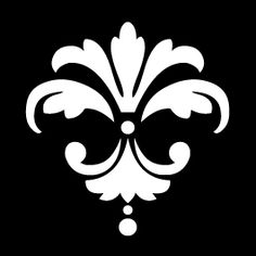 Pretty, simple damask pattern #stencil