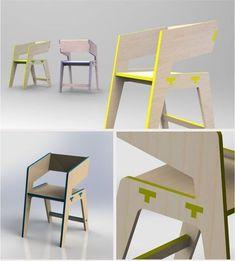 Tee Chair by IDEA Belo Horizonte, via Behance