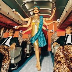 Air India, now that is service! (image by Ellen Von Unwerth)    #ridecolorfully