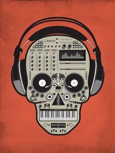 Music Dj Skull