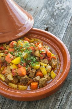 easy beef tagine {you don't have to own a tagine to make it, either!} | thewickednoodle.com #morocco #moroccan #beef #onedish