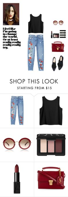 """""""Red"""" by sarah0-0 ❤ liked on Polyvore featuring MANGO, Monki, NARS Cosmetics, Yves Saint Laurent and Kate Spade"""