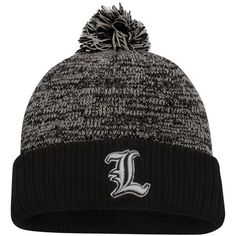 newest 27df2 e8c01 Top of the World Louisville Cardinals Charcoal Black Dense Cuffed Pom Knit  Hat