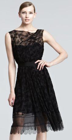 9d4591fce23e Nina Ricci Butterfly-Burnout Velvet Dress