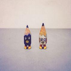 #art #acrylic #artwork #tiny #figure #doll #tinydoll #wood #woodcarving #pencil #pencilman #etsy #creative #craftsposure #stationery #handmade #blue #white