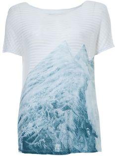 TRENDT Camiseta Branca Listrada.