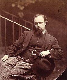 Dante Gabriel Rossetti in un ritratto fotografico realizzato dal fratello nel 1863.