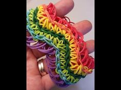 Wave Bracelet (with rings) Tutorial by feelinspiffy (Rainbow Loom - YouTube