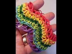 Rainbow Loom Wave Bracelet (with rings) tutorial by Ellen Carpenter - YouTube