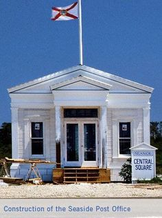 Vintage Photo ~ Building the now ICONIC Seaside Post Office: seaside, fl 30a 30A
