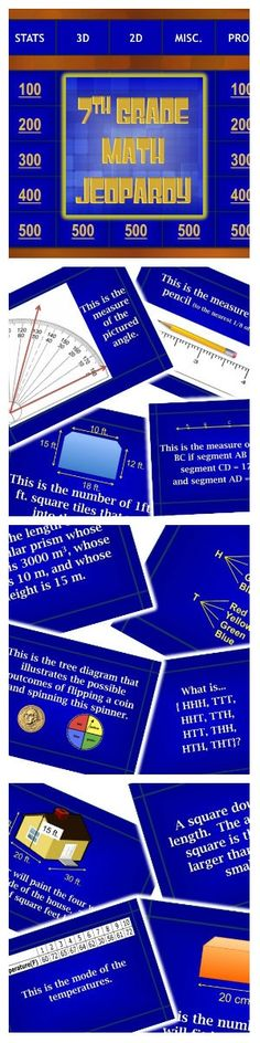 Area, Perimeter, Surface Area, and Volume Review Jeopardy® Game - sample jeopardy powerpoint