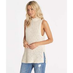 Timeless classics never die. The Cross My Heart sleeveless sweater updates the classic with a mod mock neck and side slits.  Sleeveless sweater. ...