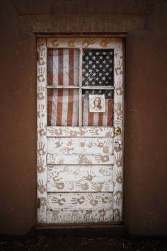 Handprint American door