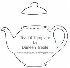 Top Tip Tuesday Teapot Card Applique Templates Printable Patterns Quilt