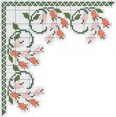 Cross Stitch Borders, Cross Stitch Rose, Cross Stitch Flowers, Cross Stitch Designs, Cross Stitching, Cross Stitch Embroidery, Cross Stitch Patterns, Cross Stitch Christmas Stockings, Hand Embroidery Patterns Flowers