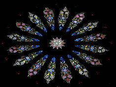 Rose window    From the Gothic revival church of the Holy Rosary, near the Vatican, which is run by the Dominicans.