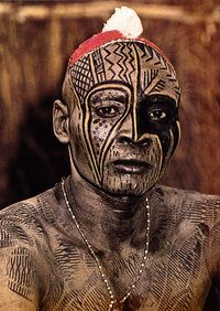 """They had then drawn patterns on them in white, yellow and dark green. They then set about painting themselves with cam wood and drawing beautiful black patterns... "" (38). In the spirit of celebration, art was highly respected and loved throughout Igbo culture. Arts, customs, celebrations, and religion were all very significant pieces to each day of Igbo culture as the quote manages to illustrate people covered in wonderful patterns and colors in preparation for celebration."