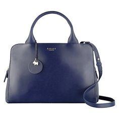 Buy Radley Millbank Medium Leather Multiway Bag, Navy Online at johnlewis.com
