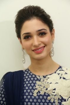 Beautiful Tollywood Actress Tamannaah Smiling Face Closeup Stills