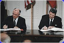 The defense authorization bill currently before Congress overturns the Intermediate Range Nuclear Forces Treaty signed by Ronald Reagan and Mikhail Gorbachev. This treaty eliminated an entire class of nuclear weapons and signaled the end of the Cold War. Nuclear Force, Nuclear War, Nuclear Bomb, Sun Tzu, Frank Gehry, Nagasaki, Hiroshima, Gerhard Richter, Bbc News