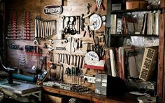 Vorbildliche Werkzeugwand