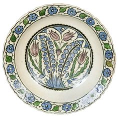 Syrian Tulip Dish, Damascus, 17th century | From a unique collection of antique and modern ceramics at http://www.1stdibs.com/furniture/asian-art-furniture/ceramics/