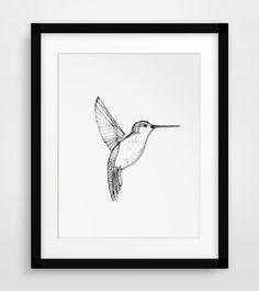 Hummingbird Art Hummingbird Print Printable by MelindaWoodDesigns #printableart