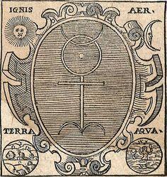 Four Elements : Ignis + Aer + Terra + Aqua Esoteric Symbols, Esoteric Art, Esoteric Tattoo, Pagan Symbols, Aleister Crowley, 5 Elements, Vegvisir, Occult Art, Principles Of Art