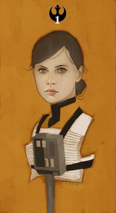 Felicity Jones X-Wing Pilote in Star Wars :Rogue On by Phil Noto