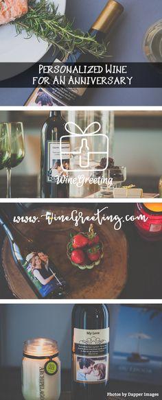Personalized Wine Custom Wine Bottles, Custom Wine Labels, Personalized Wine Bottles, Love Photos, Anniversary, Night, Personalized Wine Labels