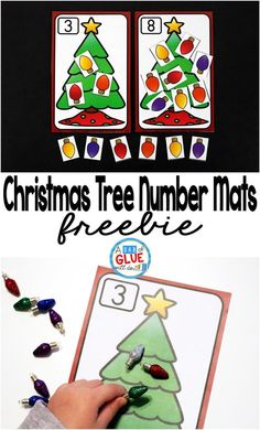 Christmas Tree Number Mats is the perfect addition to your math centers this holiday season. This free printable is perfect for preschool, kindergarten, and first grade students. Kindergarten Centers, Preschool Math, Math Centers, Kindergarten Crafts, Preschool Winter, Teaching Kindergarten, Activity Centers, Learning Centers, Holiday Activities
