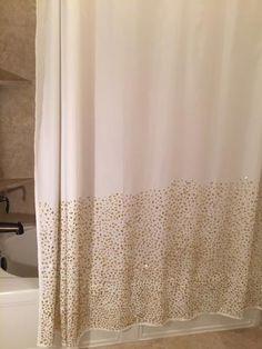 Posh Rhinestone Shower Curtain