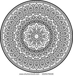 Find Figure Mandala Coloring Good Mood stock images in HD and millions of other royalty-free stock photos, illustrations and vectors in the Shutterstock collection. Adult Coloring Book Pages, Mandala Coloring Pages, Coloring Pages To Print, Free Coloring Pages, Coloring Books, Mandala Artwork, Mandalas Painting, Mandalas Drawing, Mehndi