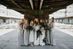 Překrásná industriální skandinávská svatba