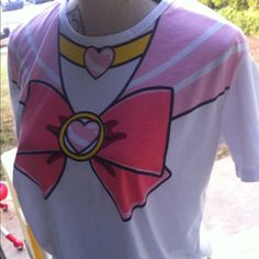 Adorable sailor moon tee shirt like new Washed and worn 1 time excellent condition will have nwt ones in the next month as well. Size large to xl or baggy fit for a smaller size girl  Tops Tees - Short Sleeve