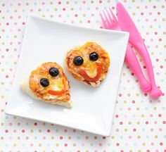 heart shaped pizza valentine's lunch for kids #funfood