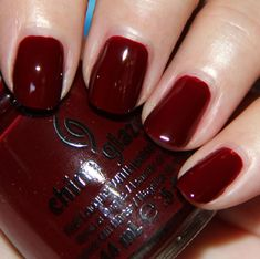 "China Glaze ""Velvet Bow"" — BEAUT. For a cheaper option, try Sally Hansen's Insta Dri ""Cinna-Snap""."