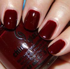 "China Glaze ""Velvet Bow"" — BEAUT. For a cheaper option, try Sally Hansen's Insta Dri ""Cinna-Snap""."