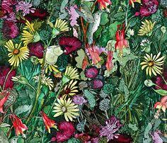 Summer Prairie fabric by helenklebesadel on Spoonflower - custom fabric